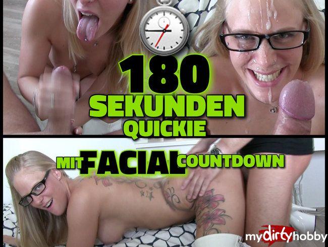 180 Sekunden QUICKIE - Monster FACIAL mit Abspritz Countdown