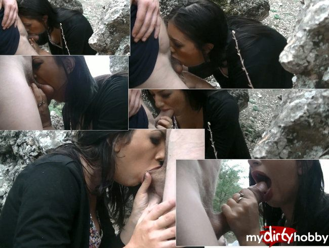 Mountain deepthroat and cum in mouth