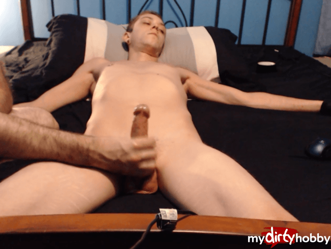 Edging, dick head teasing, and post cum play
